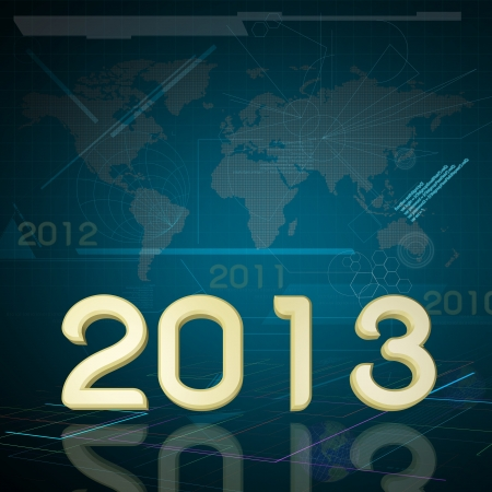 2013 the Year on Technology Background Stock Photo - 16654955