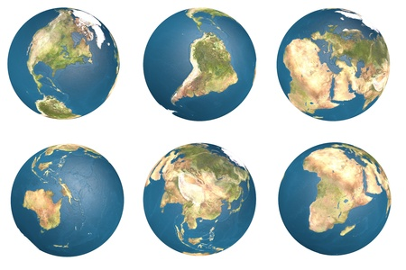 3d Earth globe with clipping path.  Element of this image furnished by NASA. photo