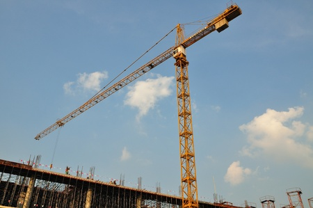 Tower Crane over construction site