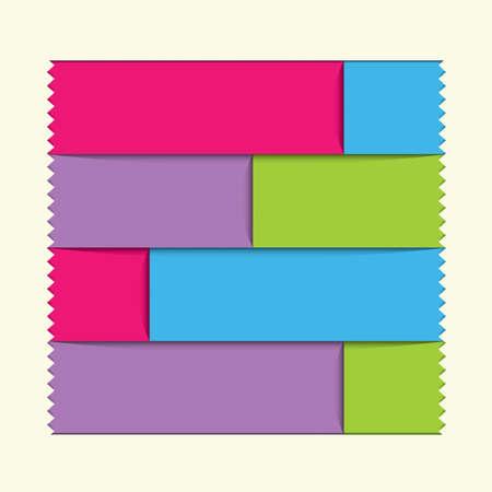multiply: Plantilla de dise�o moderno  se puede utilizar para la infograf�a  banners  l�neas horizontales numeradas del recorte  layout gr�fico o p�gina web. Efecto del gradiente fil, Multiplicar capa utilizada en este archivo. Vectores