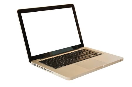 Laptop or notebook computer on whitebackground photo