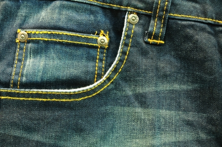 close up up fancy gewassen blauwe jeans zak photo