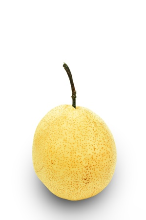 Fresh oriental pear on a white background  photo