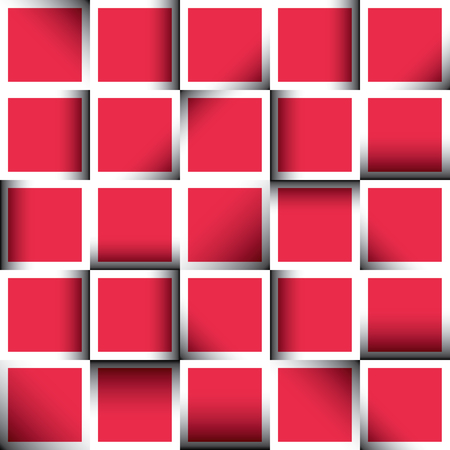 Background of colorful square mosaic tile in vector Vector