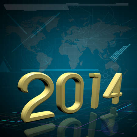 2014 the Year on Technology Background photo