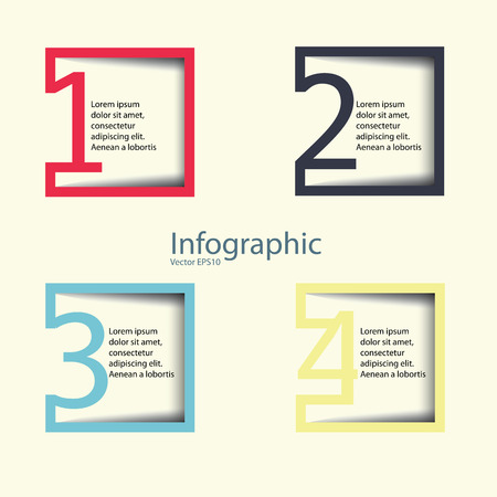Modern Design template  can be used for infographics  numbered banners  horizontal cutout lines  graphic or website layout vector in EPS 10 format.  Effect of Gradient fil and Multiply Layer used in this file.