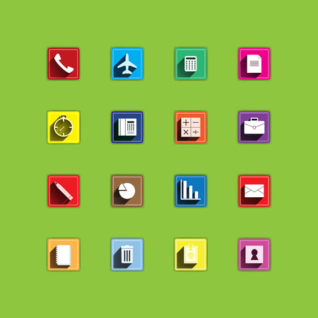 Sets of flat icons for mobile app and web  photo