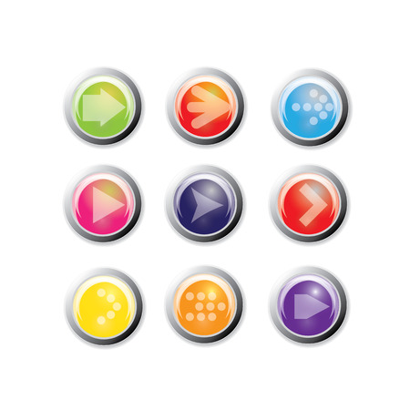 designator: Arrow sign icon set. internet button Illustration