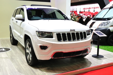 cherokee: NONTHABURI - March 25: New Jeep Grand Cherokee on display at The 35th Bangkok Thailand International Motor Expo on March 25, 2014 in Nonthaburi, Thailand. Editorial