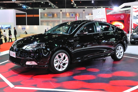 NONTHABURI - March 25: New MG 6 on display at The 35th Bangkok Thailand International Motor Expo on March 25, 2014 in Nonthaburi, Thailand.
