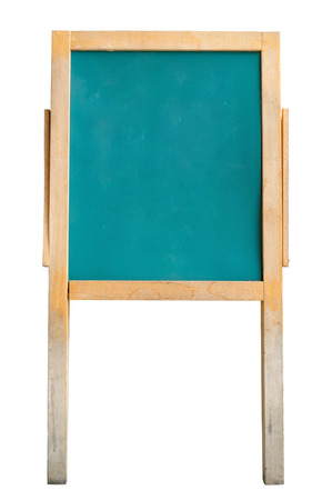 ersatz: Green Chalk Board or Easel isolated on white with clipping path