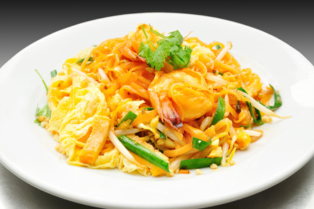 thai pepper: Pad Thai with Fresh Shrimp Covered with Fried Egg.