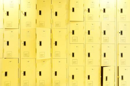 ed: row of lockers with dramatic lighting
