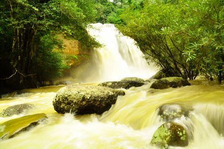 Haew Suwat Waterfall in Kao Yai Nation park of Thailand first of Nation park photo