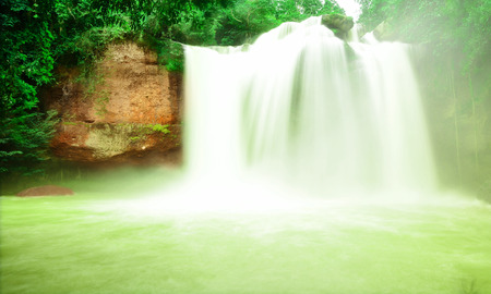 damn: Haew Suwat Waterfall in Kao Yai Nation park of Thailand first of Nation park Stock Photo