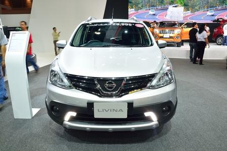 nonthaburi: NONTHABURI - DECEMBER 1: Nissan Livina car display at Thailand International Motor Expo on December 1, 2014 in Nonthaburi, Thailand. Editorial