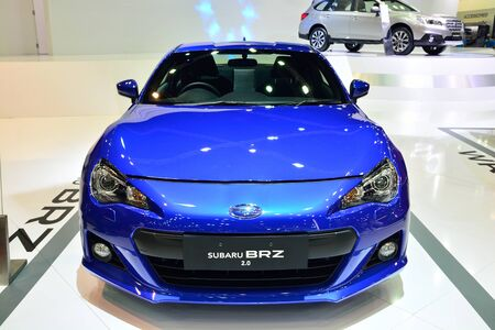 nonthaburi: NONTHABURI - DECEMBER 1: Subaru BRZ 2.0 car display at Thailand International Motor Expo on December 1, 2014 in Nonthaburi, Thailand. Editorial