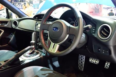 nonthaburi: NONTHABURI - DECEMBER 1: Interior design of Subaru BRZ 2.0 car display at Thailand International Motor Expo on December 1, 2014 in Nonthaburi, Thailand.