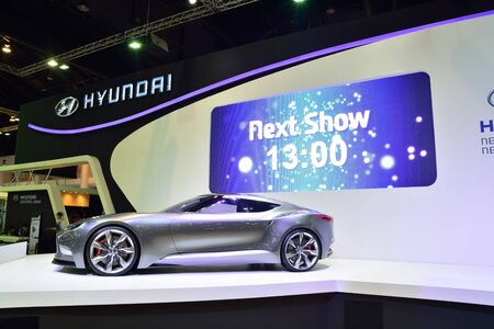 nonthaburi: NONTHABURI - DECEMBER 1: Hyundai HND-9 concept car display at Thailand International Motor Expo on December 1, 2014 in Nonthaburi, Thailand.