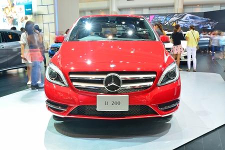 nonthaburi: NONTHABURI - DECEMBER 1: Mercedes BenZ B 200 car display at Thailand International Motor Expo on December 1, 2014 in Nonthaburi, Thailand.