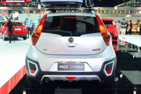 nonthaburi: NONTHABURI - DECEMBER 1: MG 3 X-cross car display at Thailand International Motor Expo on December 1, 2014 in Nonthaburi, Thailand. Editorial
