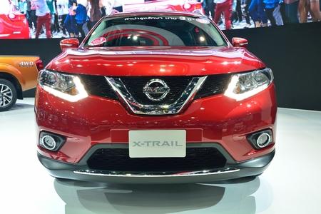nonthaburi: NONTHABURI - DECEMBER 1: New Nissan x-trail, SUV car display at Thailand International Motor Expo on December 1, 2014 in Nonthaburi, Thailand.