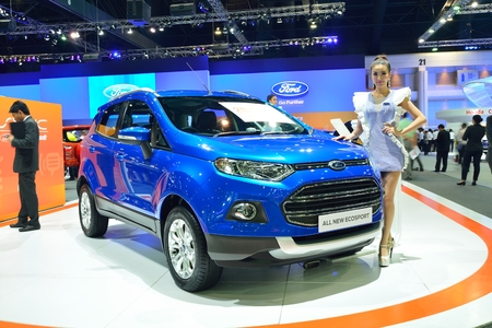 nonthaburi: NONTHABURI - DECEMBER 1: Ford Ecosport car display at Thailand International Motor Expo on December 1, 2014 in Nonthaburi, Thailand. Editorial