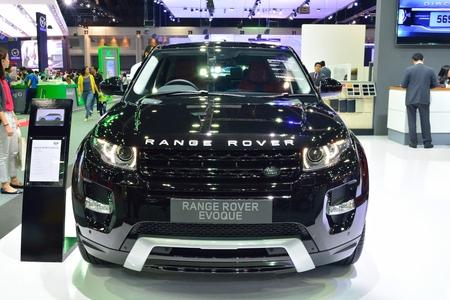 nonthaburi: NONTHABURI - DECEMBER 1: Range Rover Evoque SD4 car display at Thailand International Motor Expo on December 1, 2014 in Nonthaburi, Thailand.