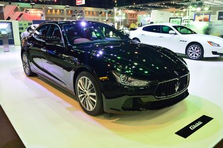 nonthaburi: NONTHABURI - DECEMBER 1: Maserati Ghibli car display at Thailand International Motor Expo on December 1, 2014 in Nonthaburi, Thailand. Editorial