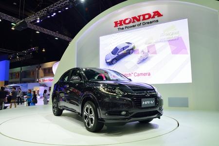 nonthaburi: NONTHABURI - DECEMBER 1: New Honda HR-V car display at Thailand International Motor Expo on December 1, 2014 in Nonthaburi, Thailand.