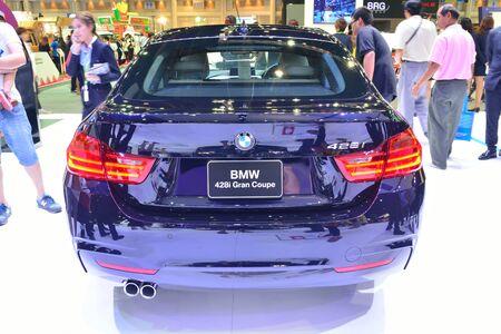 nonthaburi: NONTHABURI - DECEMBER 1: BMW 428I Gran Coupe car display at Thailand International Motor Expo on December 1, 2014 in Nonthaburi, Thailand. Editorial