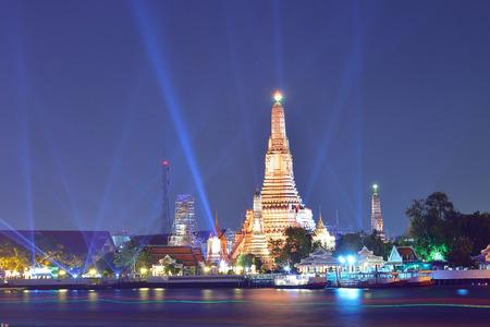 Wat Arun ( Temple of Dawn ) at night, Bangkok, Thailand. photo