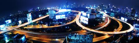 expressway: Bangkok Expressway and Highway top or Aerial view, Thailand