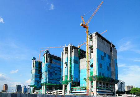 Construction Site Under the blue sky photo