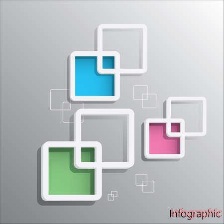 Rounded Rectangular Frame design template in Vector format. Vector