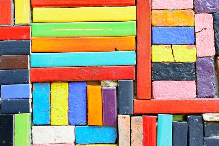 Grunge Colorful Ceramic Tile Patterns Background. photo