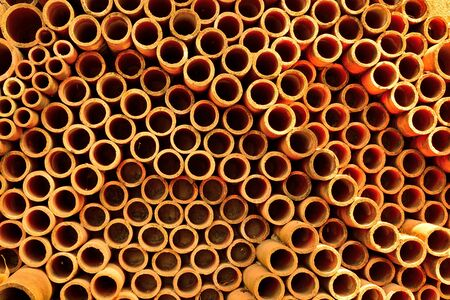 Ceramic pipe wall pattern background.