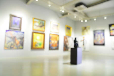 Blur or Defocus abstract image of the lobby of a modern art center as background