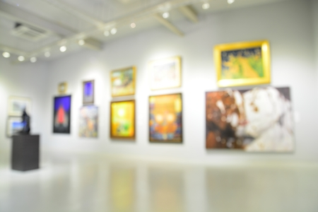 Blur or Defocus image of the lobby of a modern art center as background with bokeh 写真素材