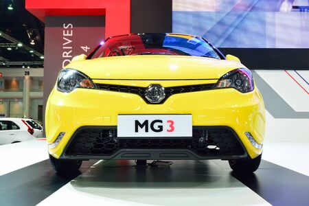 cc: BANGKOK - March 26 : MG 3 Hatchback Car with 1500 cc. VTi engine on DisPlay at 36th Bangkok International Motor Show 2015, on March 26, 2015 in Bangkok, Thailand.