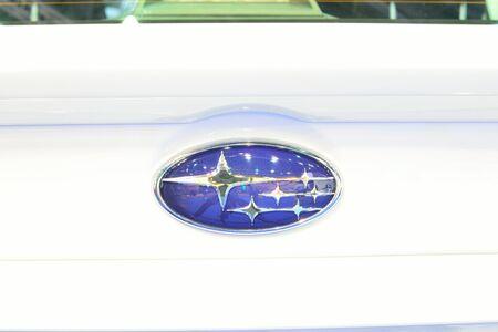 BANGKOK - March 26 : Logo of Subaru WRX on DisPlay at 36th Bangkok International Motor Show on March 26, 2015 in Bangkok, Thailand.