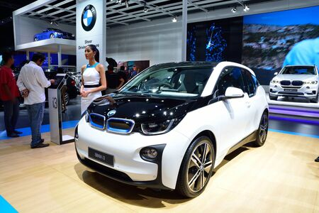 i3: BANGKOK - March 26 : New BMW i3 eDrive on DisPlay at 36th Bangkok International Motor Show on March 26, 2015 in Bangkok, Thailand. Editorial