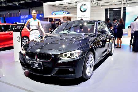 BANGKOK - March 26 : BMW 328i on DisPlay at 36th Bangkok International Motor Show on March 26, 2015 in Bangkok, Thailand.