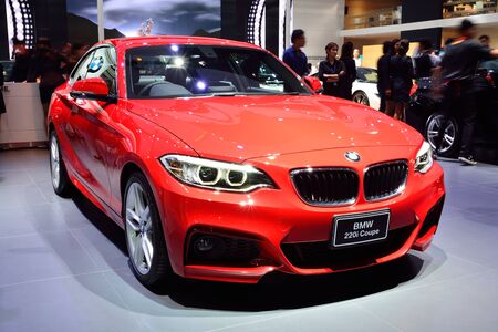 BANGKOK - March 26 : BMW 220i Coupe on DisPlay at 36th Bangkok International Motor Show on March 26, 2015 in Bangkok, Thailand.
