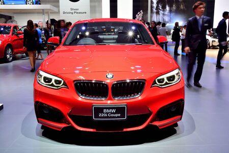 BANGKOK - March 26 : BMW 220i Coupe on DisPlay at 36th Bangkok International Motor Show on March 26, 2015 in Bangkok, Thailand.