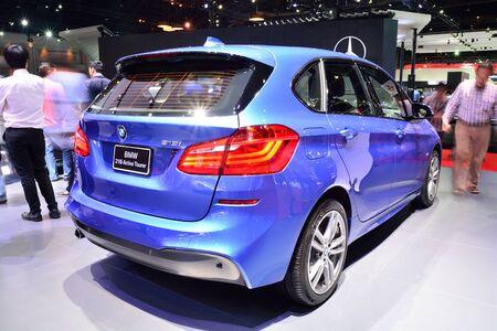 BANGKOK - March 26 : BMW 218i Active Tourer on DisPlay at 36th Bangkok International Motor Show on March 26, 2015 in Bangkok, Thailand.