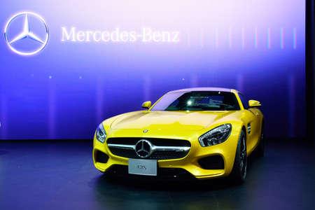 BANGKOK - March 26 : Mercedes Benz AMG-GTS on DisPlay at 36th Bangkok International Motor Show on March 26, 2015 in Bangkok, Thailand.