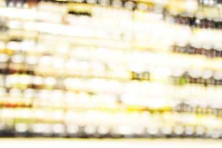 wine trade: Blur or Defocus image of Wine on the Shelf of Liquor Store Stock Photo
