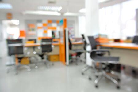 customer service: Defocused blur background of customer service center.