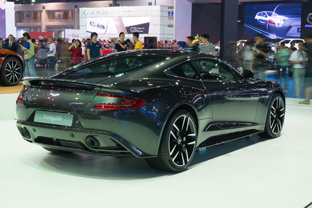 vanquish: NONTHABURI - MARCH 23: NEW Aston Martin Vanquish on display at The 37th Bangkok International Motor show on MARCH 23, 2016 in Nonthaburi, Thailand. Editorial